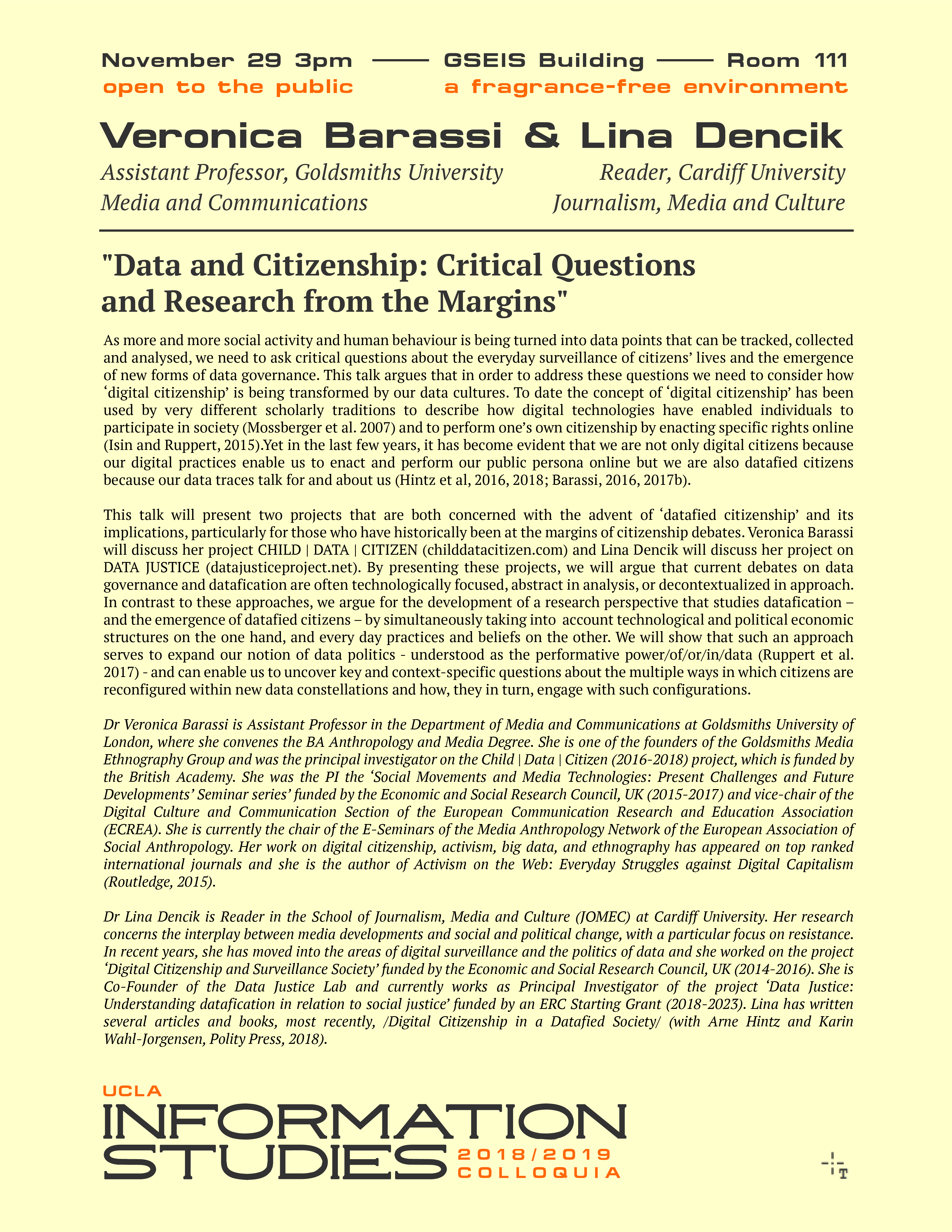 Data and Citizenship: Critical Questions and Research Perspectives from the Margins
