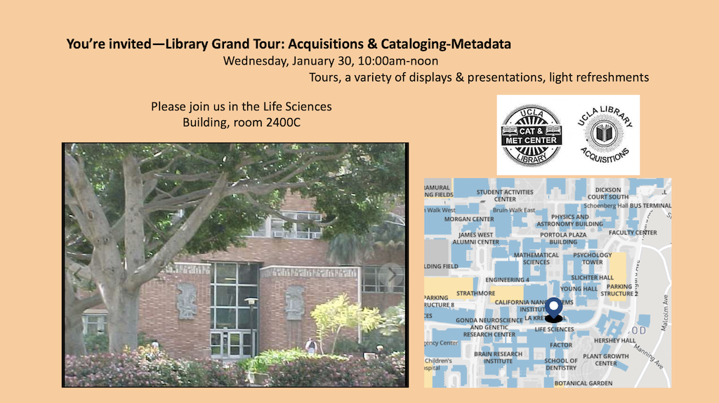 Library Grand Tour: Acquisitions & Cataloging-Metadata