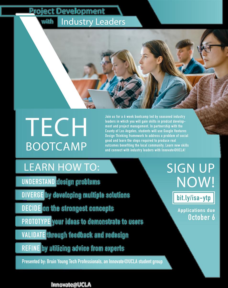Design Thinking Tech Bootcamp Registration Deadline Oct 6