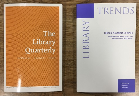 Perspectives on professional labor & library services to incarcerated people in Library Quarterly & Library Trends